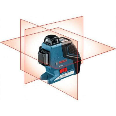 Нивелир Bosch лазерный линейный GLL 3-80 (линейн, 3плоск, 80м, точн.0,2мм/м, 0,76 кг, чехол) 0601063305