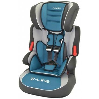 Детское автокресло Nania Beline SP LX (agora petrole) от 9 до 36 кг (1/2/3) черный/серый 583009