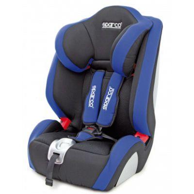 Детское автокресло Sparco F 1000 K от 9 до 36 кг (1/2/3) черный/голубой SPC/DK-350 BK/BL
