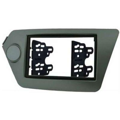 Intro Рамка для установки автомагнитолы KIA Rio 11+ 2din (крепеж) Black royal glass RKIA-N28-B