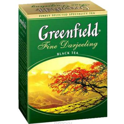 Чай Greenfield Файн Дарджилинг 100г. чай лист.черн. 0376-16