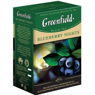 Чай Greenfield Блюберри Найтс 100г. чай лист.черн.с доб. 0997-15