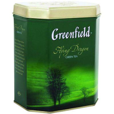 Чай Greenfield Флаинг Драгон 150г. чай лист.зел.в ж/б 0887-08