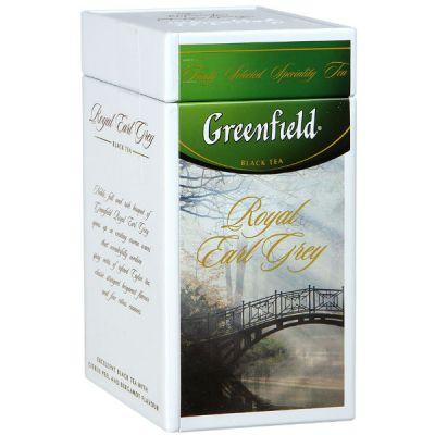 Чай Greenfield Роял Эрл Грей 125г. чай лист.черн.с доб.в ж/б 1058-14
