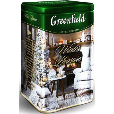 Чай Greenfield Винтэ Плэжа 150г. чай лист.черн.с доб.в ж/б 1077-12