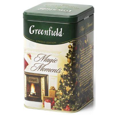 Чай Greenfield Меджик Моментс 150г. чай лист.черн.с доб.в ж/б 1078-12