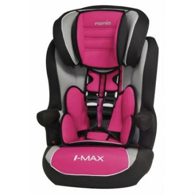 Детское автокресло Nania Imax SP LX (agora framboise) от 9 до 36 кг (1/2/3) розовый/черный 923124