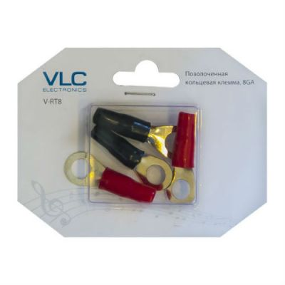 VLC Electronics кольцевая клемма, 8 AWG (4 шт) V-RT8