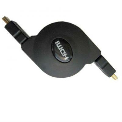 Кабель Espada HDMI(M)-HDMI(M), 1m, ver1.4 плоский с регулировкой длины