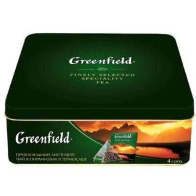 Чай Greenfield Набор превосход.лист.чая и чай.нап.4 вида пирам.в ж/б. 1076-08
