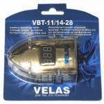 Velas Аккумуляторная клемма, выход: 1x1Ga+1x4Ga+2x8Ga (+) со встроеннным цифровым вольтметром и прозрачным защитным кожухом VBT-1114-28