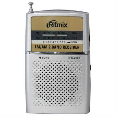 Ritmix радиоприемник карманный RPR-2061 серебристый 15113923