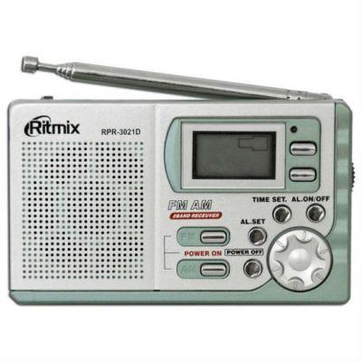 Ritmix радиоприемник портативный RPR-3021 серебристый 15113924