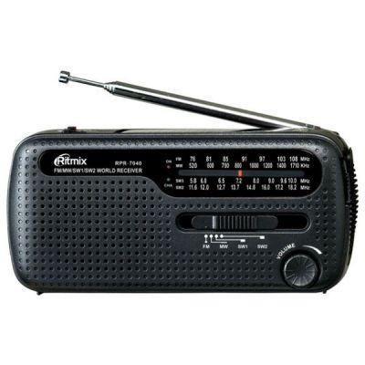 Ritmix радиоприемник портативный RPR-7040 черный 15113762
