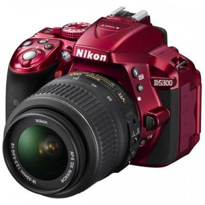 Зеркальный фотоаппарат Nikon D5300 Kit 18-55 VR II / Red VBA371K003