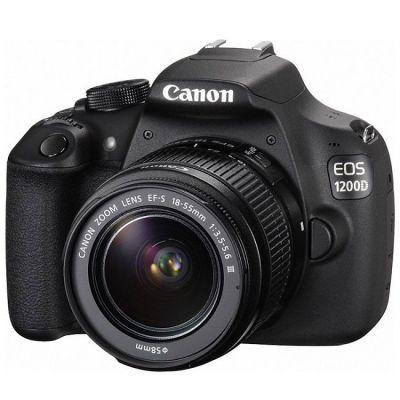 Зеркальный фотоаппарат Canon EOS 1200D EF-S 18-55 DC III черный 9127B009