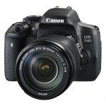 Зеркальный фотоаппарат Canon EOS 750D черный 0592C009