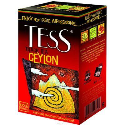 Чай TESS Цейлон 100г. чай лист.черн. 0632-15