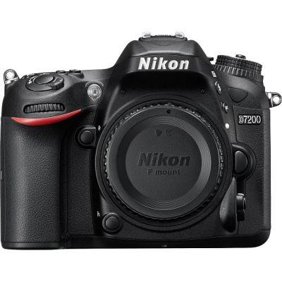 Зеркальный фотоаппарат Nikon D7200 BODY черный VBA450AE