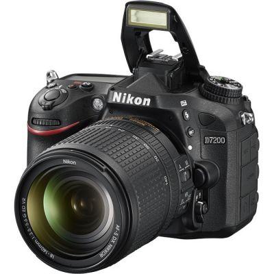 Зеркальный фотоаппарат Nikon D7200 KIT 18-140VR черный VBA450KR01