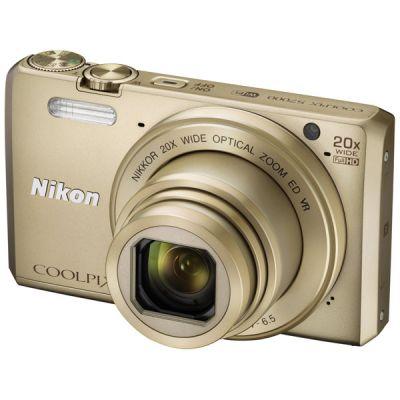 Компактный фотоаппарат Nikon CoolPix S7000 золотистый VNA802E1
