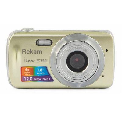 Компактный фотоаппарат Rekam iLook S750i золотистый 1108005093