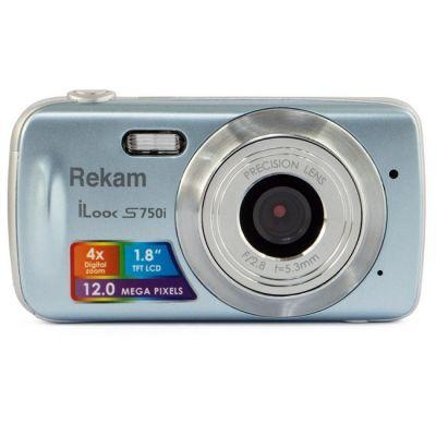 Компактный фотоаппарат Rekam iLook S750i серый 1108005092