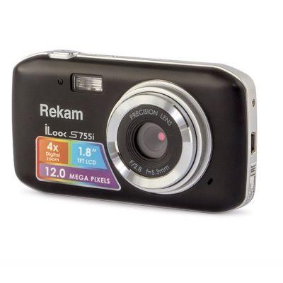 Компактный фотоаппарат Rekam iLook S755i черный S755I BL