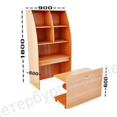 ПМК Мини-кухня Модель 2 900х500(200)х1800(660)