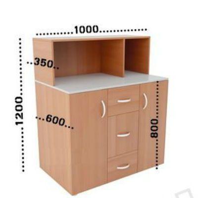 ПМК Мини-кухня Модель 1 1000х600(350)х1200(850)