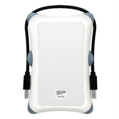 "Внешний жесткий диск Silicon Power USB 2.0 500Gb A30 2.5"" белый Armor SP500GBPHDA30S3W"