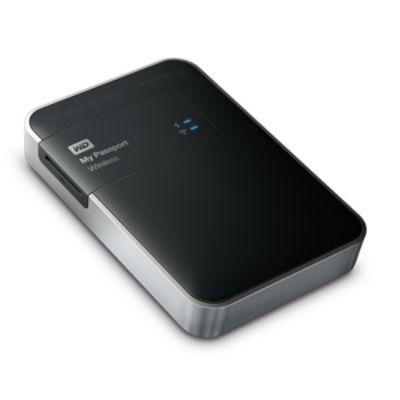 "������� ���� Western Digital USB 3.0 1000Gb My Passport Wireless (5200 ��/���) 2.5"" WDBK8Z0010BBK-EESN"
