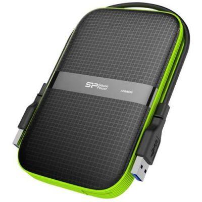 """Внешний жесткий диск Silicon Power Power USB 3.0 2Tb A60 Armor 2.5"""" черный SP020TBPHDA60S3K"""