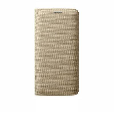 Чехол Samsung -книжка для Galaxy S6 Edge Flip Wallet золотистый (EF-WG925BFEGRU)