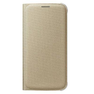 Чехол Samsung -книжка для Galaxy S6 Flip Wallet золотистый (EF-WG920BFEGRU)