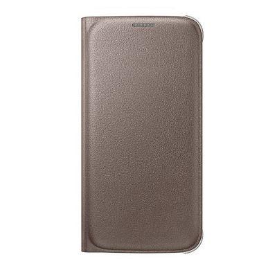 Чехол Samsung -книжка для Galaxy S6 Flip Wallet золотистый (EF-WG920PFEGRU)