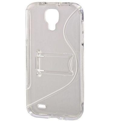 Чехол Hama -футляр для Galaxy S 4 прозрачный функция подставки TPU пластик (00122997) 122997