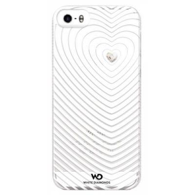 Чехол Hama (клип-кейс) для Apple iPhone 5/5s HeartBeat WD белый (152944)