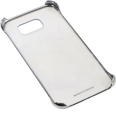 Чехол Samsung (клип-кейс) для Galaxy S6 Clear Cover серебристый (EF-QG920BSEGRU)