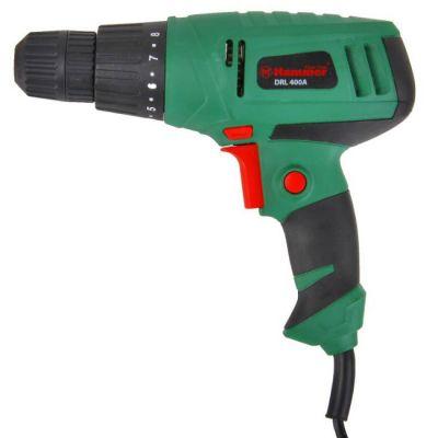 Дрель Hammer DRL400A, 280 Вт, 10 мм, 0-750 об/мин, реверс 22 Нм, DRL400A