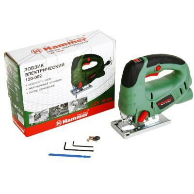 Электролобзик Hammer LZK600A, 600 Вт, 800-3000 о/м, дер. 80 мм, мет. 8 мм, маятник, литое осн, 20210h