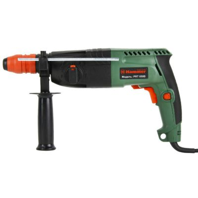 Перфоратор Hammer PRT650B, 650 Вт, SDS-plus, 24 мм, 0-1000 о/м, 2.2 Дж, 3 режима, кейс, сменный патрон, 50343h