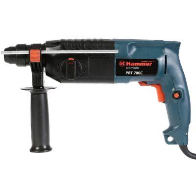 Перфоратор Hammer PRT700C PREMIUM, 700 Вт, SDS-plus, 24 мм, 0-800 о/м, 2.2 Дж, 3 режима, кейс, 17893h