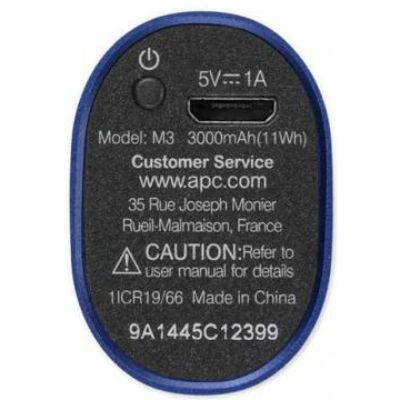 Портативный аккумулятор (Power Bank) APC Mobile Power Pack Li-Pol 3000mAh 1A , синий M3BL-EC