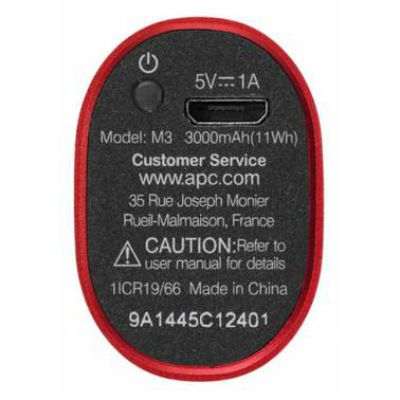 Портативный аккумулятор (Power Bank) APC Mobile Power Pack Li-Pol 3000mAh 1A , красный M3RD-EC