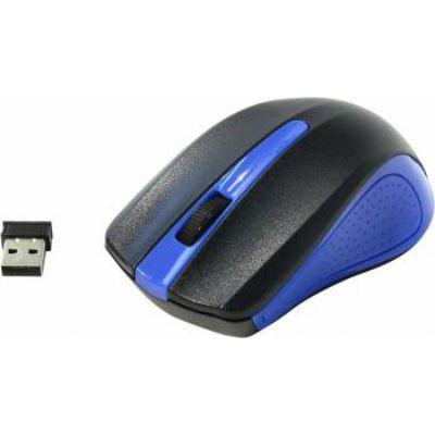 Мышь беспроводная Oklick 485MW черный/синий