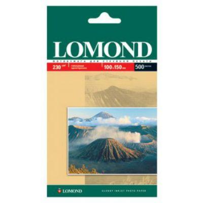 Бумага Lomond 10x15см/230г/м2/500л. глянцевая для струйной печати 720/1440dpi 0102082