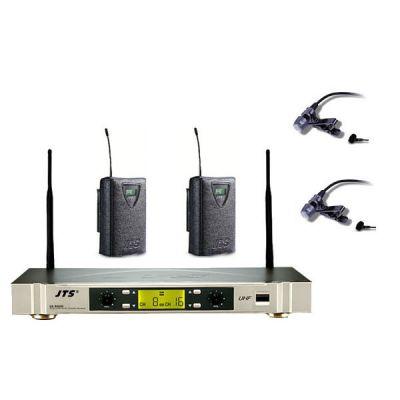 Микрофон JTS радиосистема c 2-мя поясными передатчиками и 2-мя петличными микрофонами US-902D/PT-920B x2/CM-504 x2