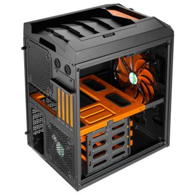 Корпус Aerocool Xpredator Cube Orange Edition