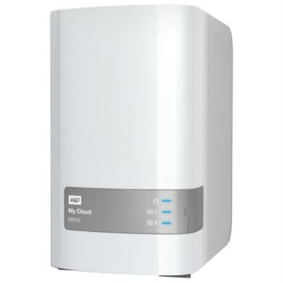 "Western Digital Персональная СХД Original USB 3.0 8Tb WDBZVM0080JWT-EESN My Cloud Mirror 3.5"" белый"